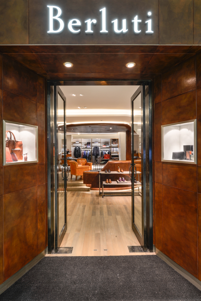 Berluti Tianjin Store Entrance Interior Photography