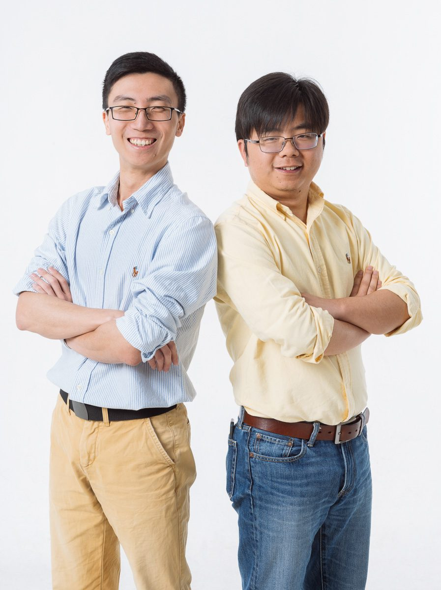 Liyuan Liu and Liao Wenlong, cofounders of COWAROBOT for Forbes Magazine by Thierry Coulon photographer in Shanghai